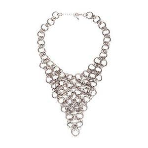 Jewelry - Silver Chain Bib Bandana Necklace